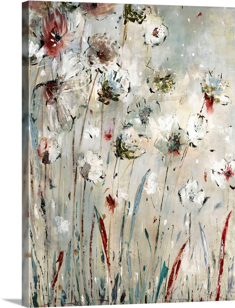 Solid-Faced Canvas Print Wall Art entitled Night Flowers