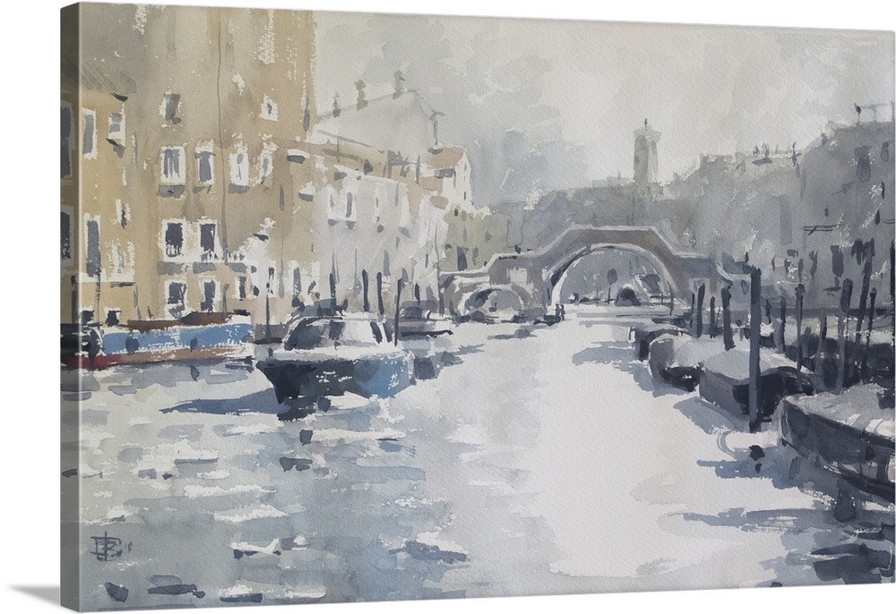 Solid-Faced Canvas Print Wall Art entitled Icy Venice