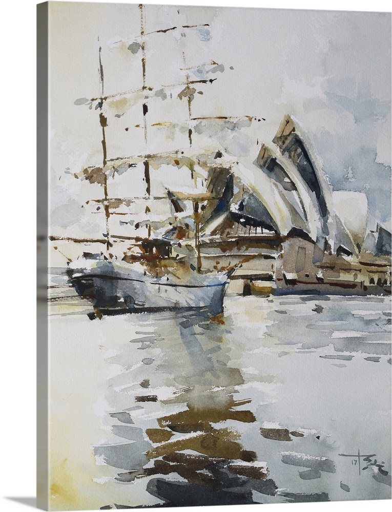 Solid-Faced Canvas Print Wall Art entitled Opera in Sydney