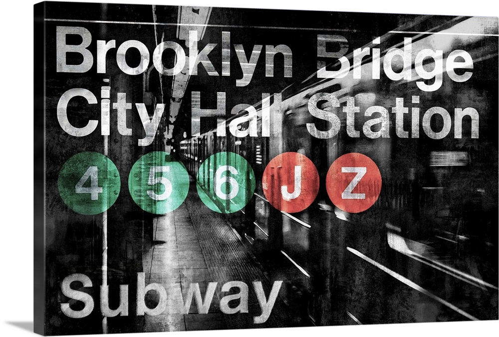 Solid-Faced Canvas Print Wall Art entitled NYC Subway Station I
