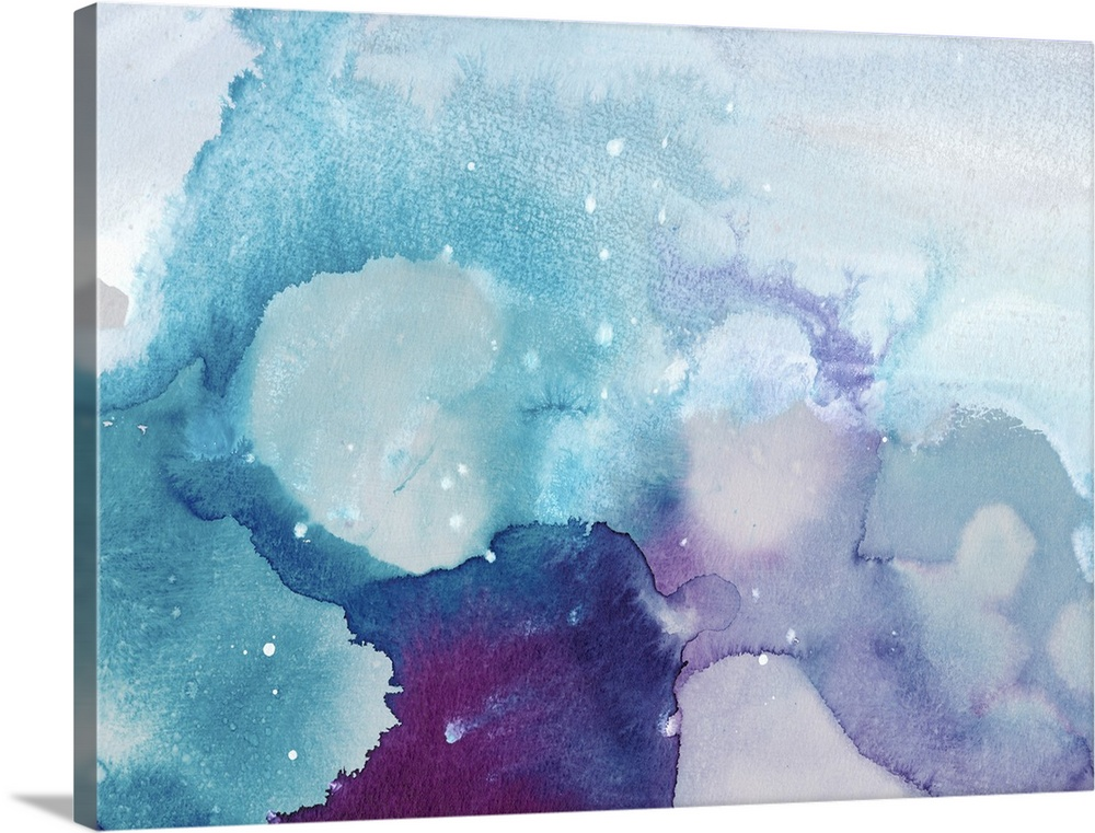 Solid-Faced Canvas Print Wall Art entitled Ice Crystals II