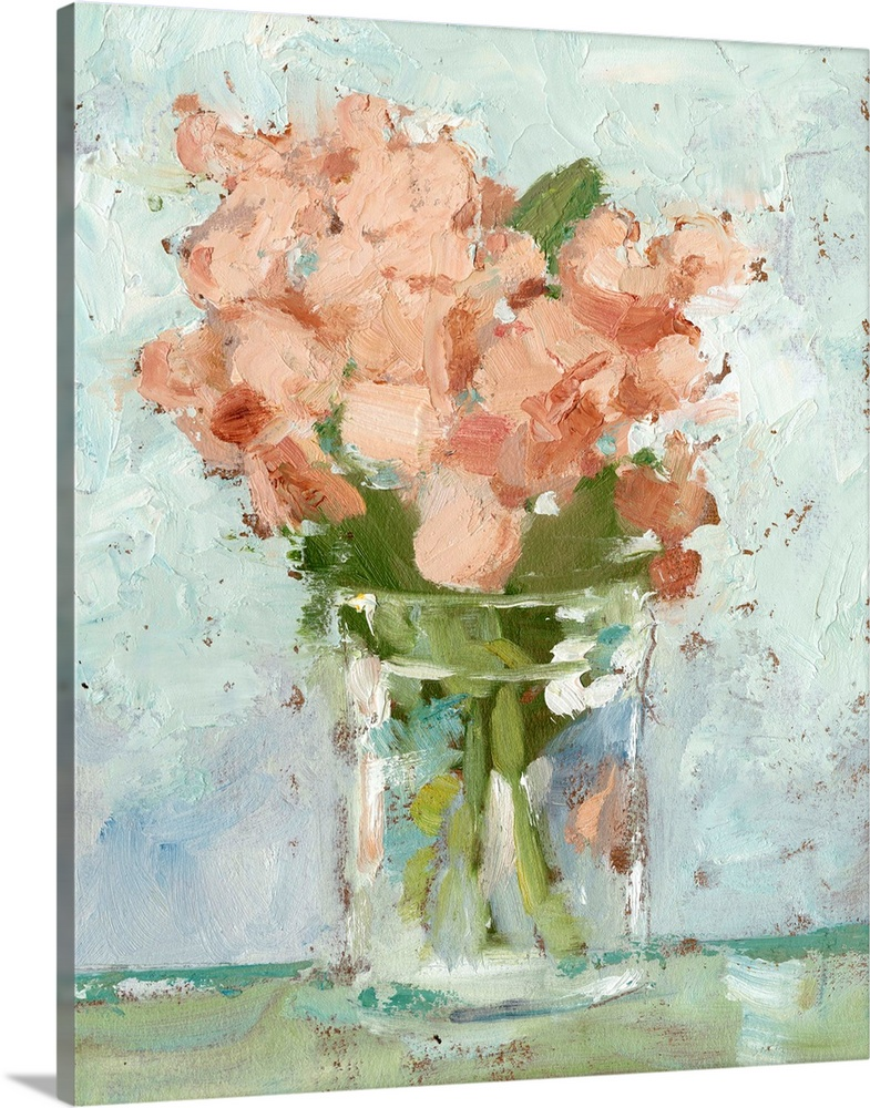 Solid-Faced Canvas Print Wall Art entitled Impressionist Floral Study I