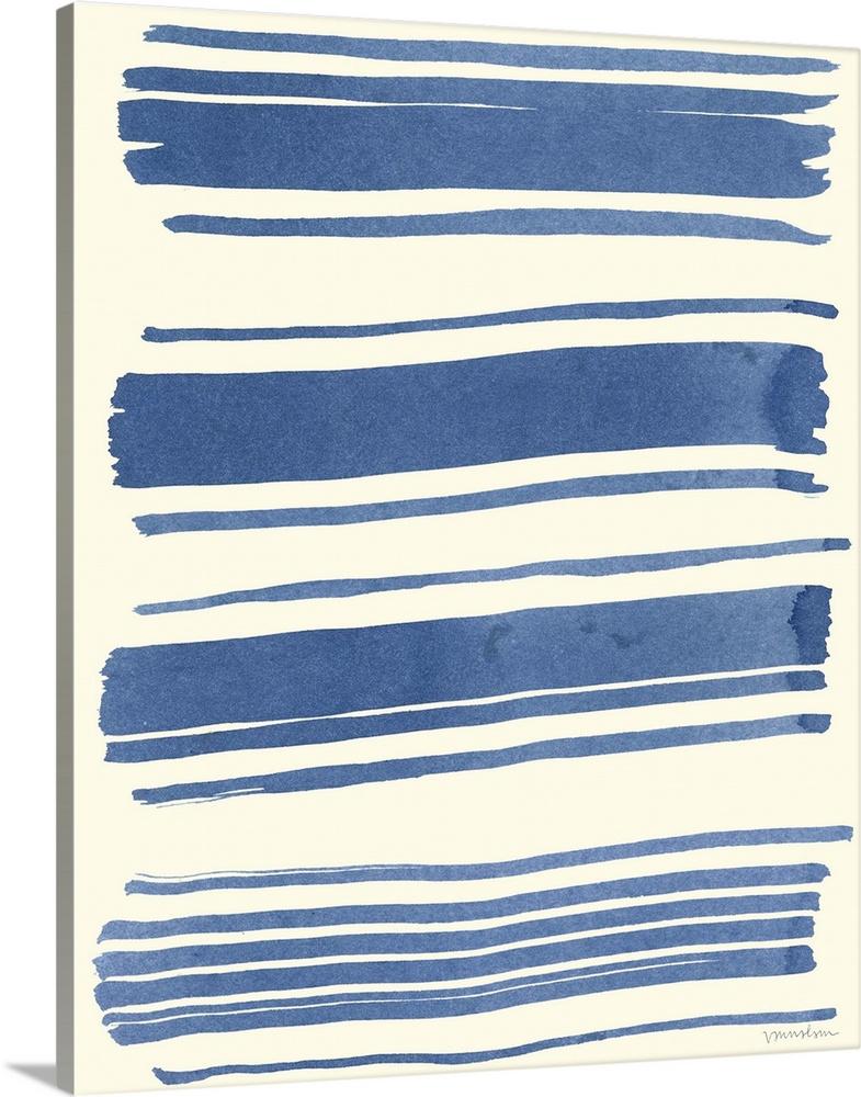 Solid-Faced Canvas Print Wall Art entitled Macrame blu III