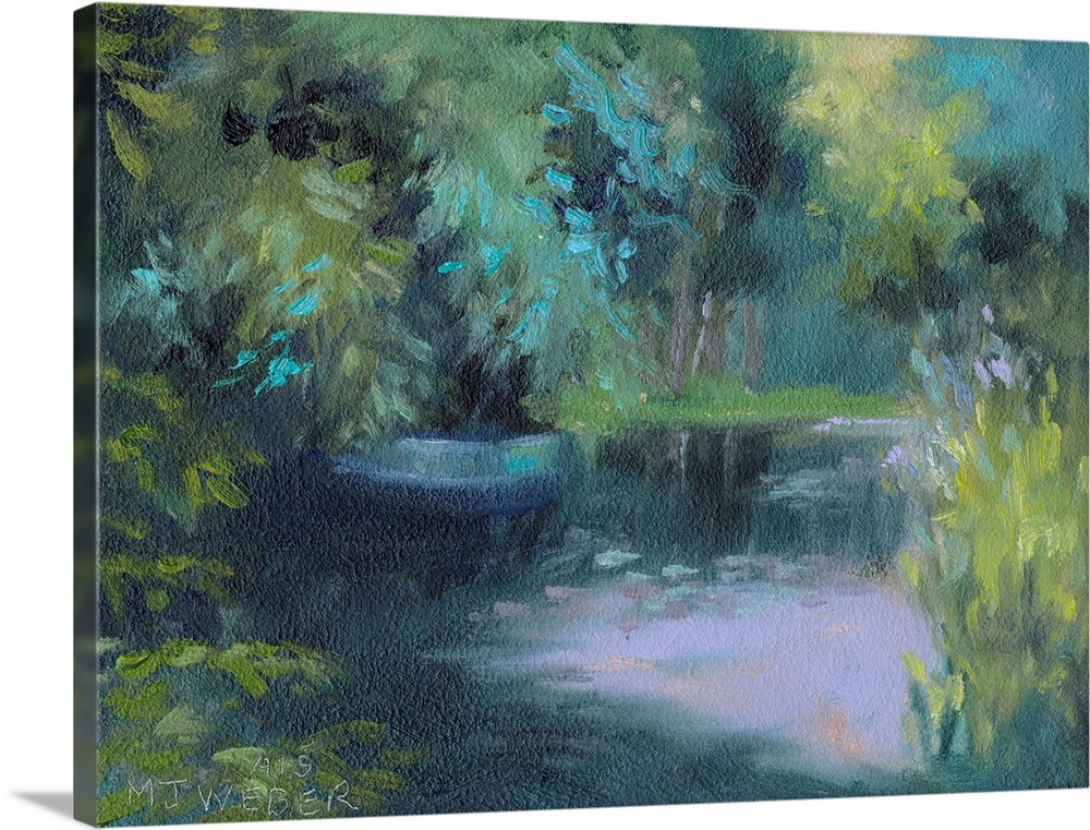 Solid-Faced Canvas Print Wall Art entitled Monet's Garden VIII