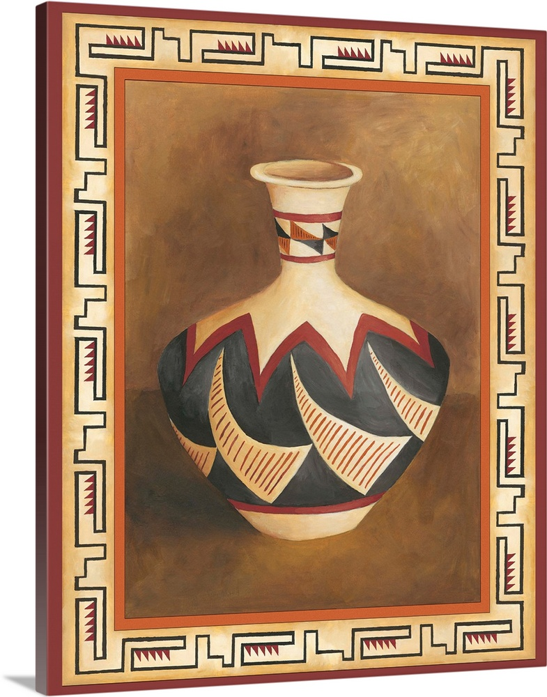 Solid-Faced Canvas Print Wall Art entitled Southwest Pottery II