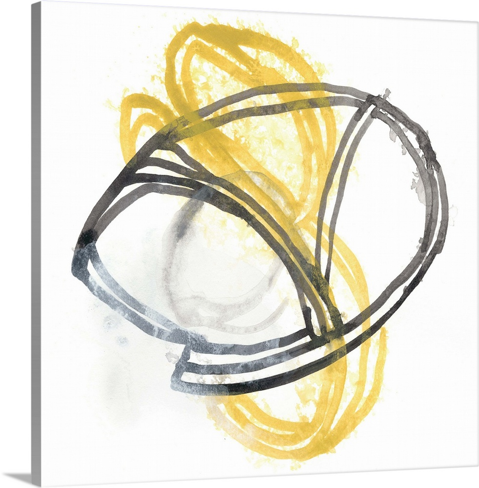 Solid-Faced Canvas Print Wall Art entitled String Orbit VI