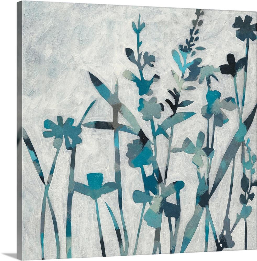 Solid-Faced Canvas drucken wand kunst entitled Twilicht Garden I